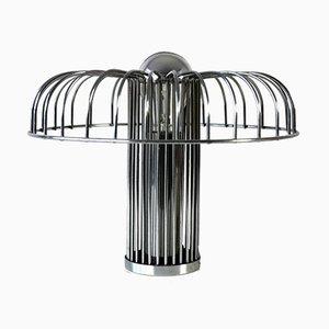 Lámpara de mesa de metal cromado y espejo, 1969