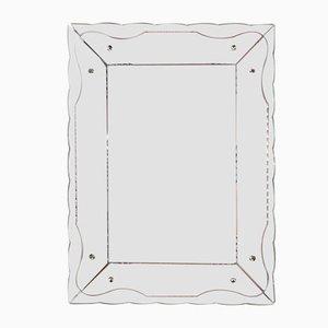 Espejo italiano Art Déco rectangular, años 30