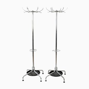 German Chrome and Steel Coat Stand from Mauser, 1950s