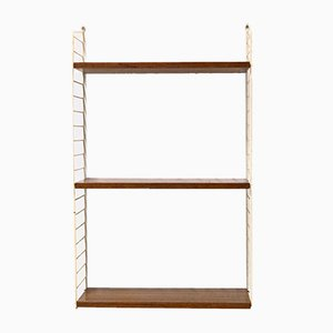 "Teak Ladder Shelf Wall Unit by Kajsa & Nils ""Nisse"" Strinning for String, 1962"