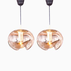 Glass Ceiling Lamps by Peill & Putzler,1960s, Set of 2