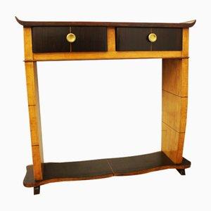 Mesa consola vintage pequeña en forma de pagoda
