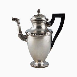 Antike Directoire Stil Kaffeekanne in Silber von Altenloh
