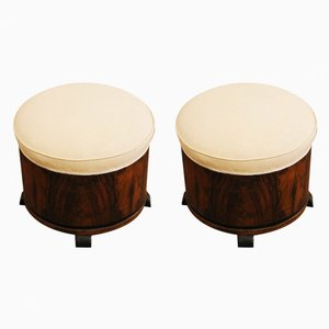 Italian Poufs, 1930s, Set of 2