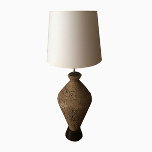 Lampada vintage a forma di anfora in gres