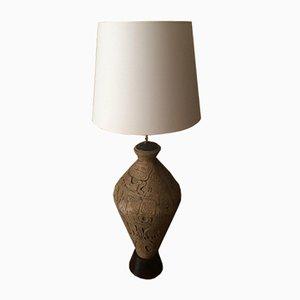 Lampe en Forme d'Amphore Vintage en Faïence