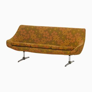 Vintage Sofa with Floral Upholstery