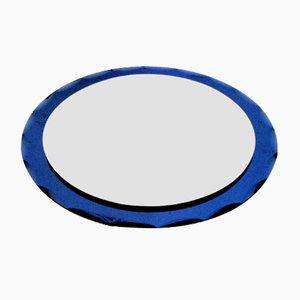 Specchio circolare di Cristal Art, anni '50