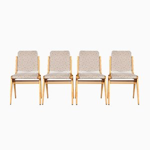 Mid-Century Beech Dining Chairs by Franz Schuster for Wiesner-Hager, Set of 4