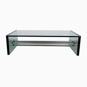 Mesa de centro rectangular de vidrio, años 70
