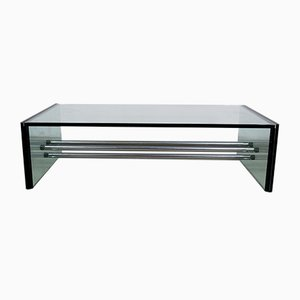 Rectangular Glass Coffee Table, 1970s