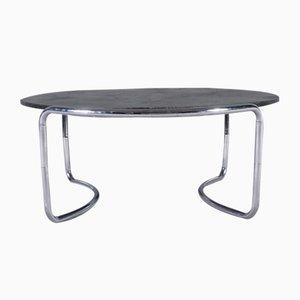 Steintisch mit Stahlrohr Gestell, 1970er