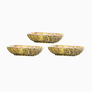 Cestini per piante in ceramica, anni '50, set di 3