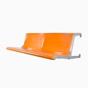 Mid-Century German 120/2 Two- Seater Bench by Friso Kramer for Wilkhahn