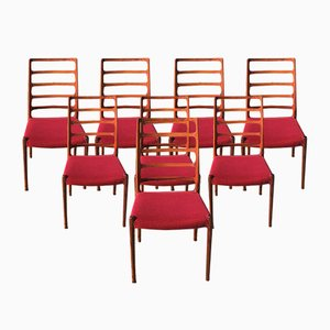 Model 82 Chairs by Niels O. Møller for J.L. Møllers, 1970s, Set of 8
