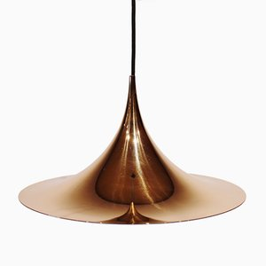 Lámpara semi colgante Gubi en color dorado de Claus Bonderup & Thorsten Thorup, años 60