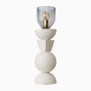 Concreto Tótem Lamp in White Concrete by Nikita Garrido, 2018