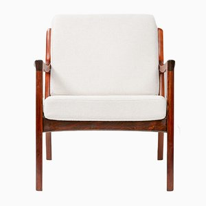 Senator Lounge Chair in Rosewood by Ole Wanscher for France & Søn, 1960s