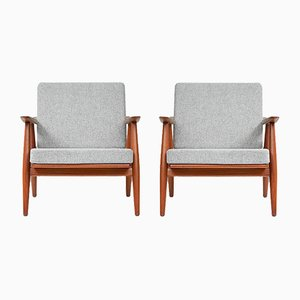 GE-270 Chairs by Hans Wegner in Teak, 1956, Set of 2