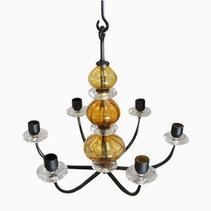 Charming Swedish Candle Chandelier By Erik Höglund