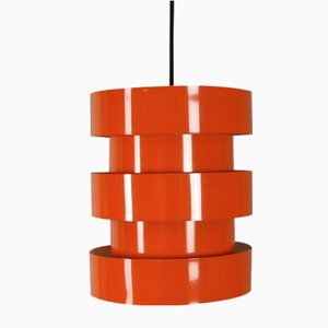 Vintage Orange Pendant Light by Johannes Hammerborg for Fog & Mørup