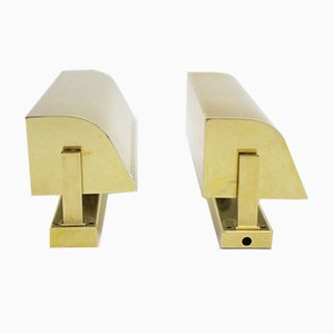 Mid-Century Modern Italian Brass Sconces, 1950s, Set of 2