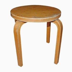 Skandinavischer Vintage Hocker aus Holz