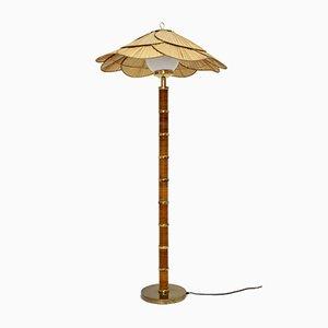 Lámpara de pie de ratán de Ingo Maurer, años 70