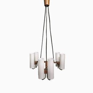 Lámpara de araña de Uno & Östen Kristiansson para Luxus, años 50