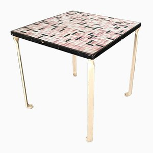 Side Table with Ceramic Tile Top, 1950s