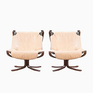 Vintage Falcon Lounge Chairs by Sigurd Ressell for Vatne Møbler, Set of 2