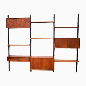 Teak Royal System Wall Unit by Poul Cadovius for Cado, 1950s