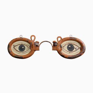 Optiker Schild aus Zink, 1920er