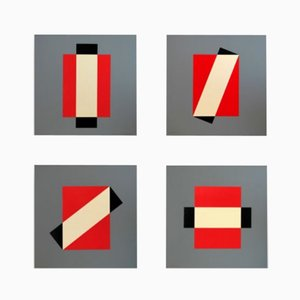 Rotation Silkscreen Prints by Lars-Gunnar Nordström for Partanen, 1988, Set of 4
