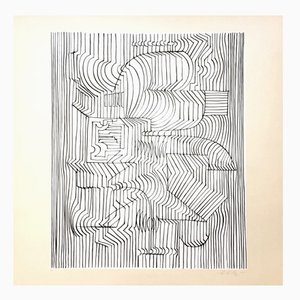 Gordium Druck von Victor Vasarely für Denise René, 1975