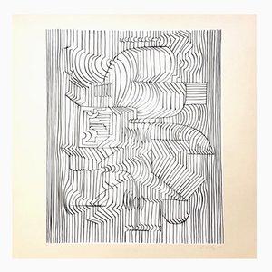 Impression Gordium par Victor Vasarely pour Denise René, 1975