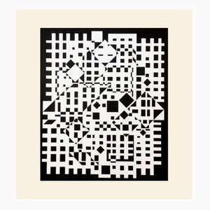 Cintra-Neg Print by Victor Vasarely for Denise René, 1975