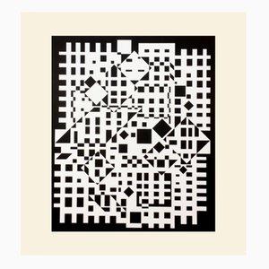Stampa Cintra-Neg di Victor Vasarely per Denise René, 1975