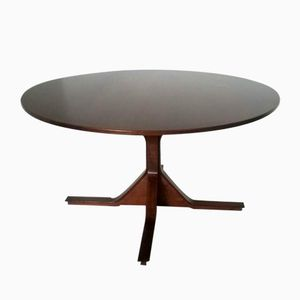 Vintage Circular Dining Table by Gianfranco Frattini for Bernini