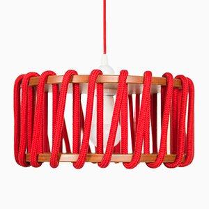Rote Macaron Hängelampe von Silvia Ceñal für Emko