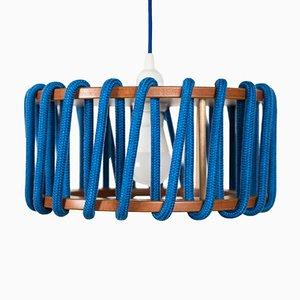 Lámpara colgante Macaron pequeña en azul de Silvia Ceñal para Emko