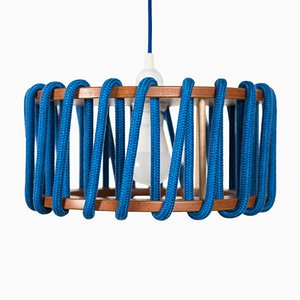 Small Blue Macaron Pendant Lamp by Silvia Ceñal for Emko