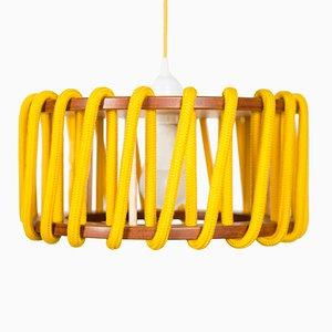 Petite Lampe à Suspension Jaune Macaron par Silvia Ceñal pour Emko