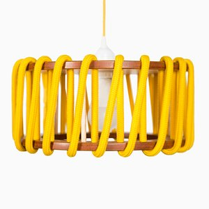 Small Yellow Macaron Pendant Lamp by Silvia Ceñal for Emko