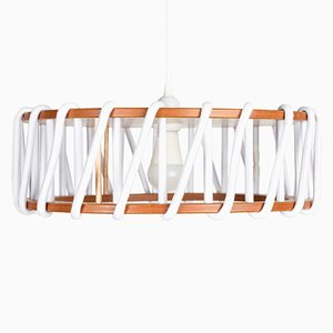 Large White Macaron Pendant Lamp by Silvia Ceñal for Emko