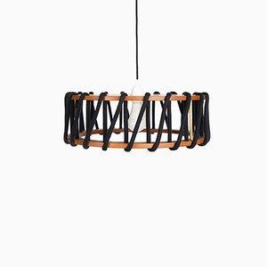 Lampe à Suspension Noire Macaron par Silvia Ceñal pour Emko