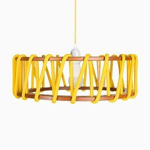 Lámpara colgante Macaron grande en amarillo de Silvia Ceñal para Emko