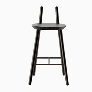 Black Naïve Semi Bar Chair by etc.etc. for Emko