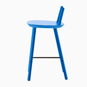 Blue Naïve Semi Bar Chair by etc.etc. for Emko
