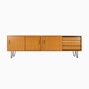Credenza in legno di frassino con gambe a graffetta, ani '60